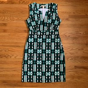 Banana Republic green pattern dress